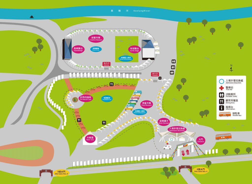 World Music Festival Taipei Map
